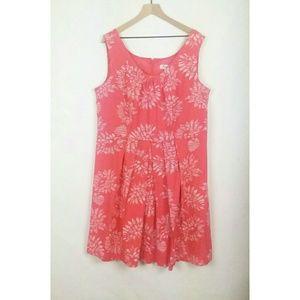 Dress Barn sleeveless pleated waist dress